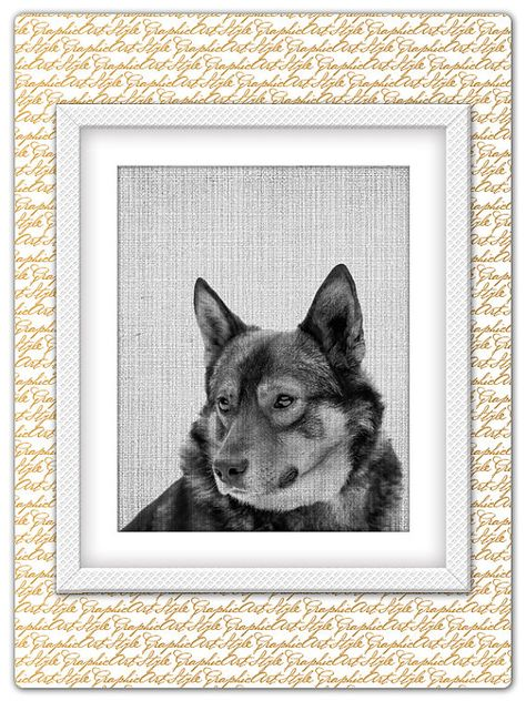Dog print dog poster dog printable black and white poster dog art dog wall art animal wall art animal printable art big dog poster
