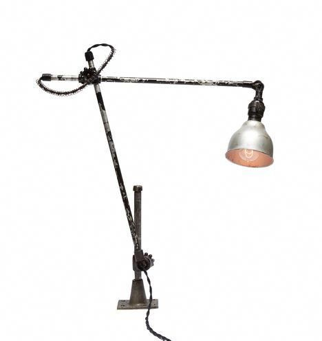 Industrial O C White Adjustable Wall Or Desk Lamp Cutelamps Lamp Desk Lamp Farmhouse Lamps
