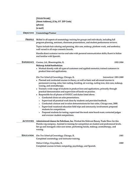Cosmetologist resume is used by cosmetologist to get applied or - resume for cosmetologist