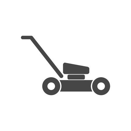 Lawn Mower In Black Silhouette Isolated Vector Illustration Lawn Mower Black Silhouette Vector Illustration
