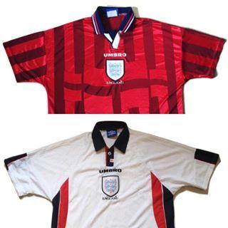 England Home And Away France 98 England Threelions France98 Worldcup Umbro Umbrofoo Retro Football Shirts France Football Shirt England Football Shirt