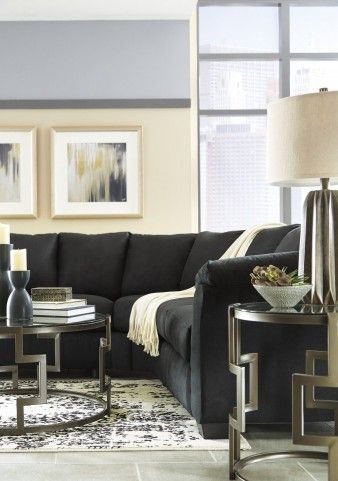 Darcy Black Sectional From Ashley Coleman Furniture Apartment In