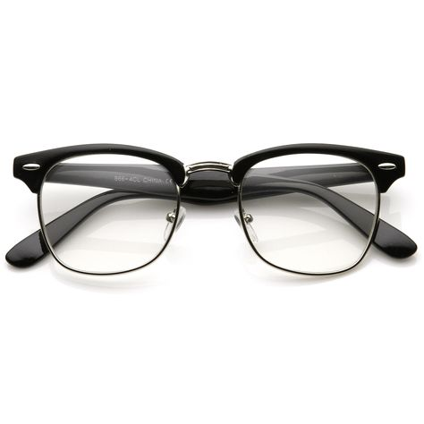 Vintage Inspired Classic Horn Rimmed Nerd Horn Rimmed UV400 Clear Lens  Glasses 69166f275196