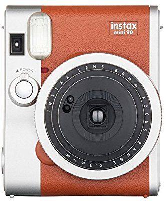 Amazon Com Fujifilm Instax Mini 90 Instant Film Camera Brown