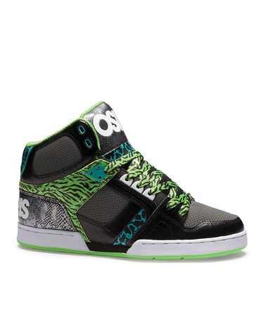 8710d559a6 Take a look at this Black & Green NYC 83 Sneaker - Kids by Osiris Shoes on #zulily  today!