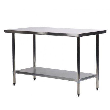 Stainless Steel Kitchen Work Table Commercial Restaurant Table 24 X 48 Inchs Walmart Com Kitchen Work Tables Stainless Steel Work Table Stainless Steel Kitchen