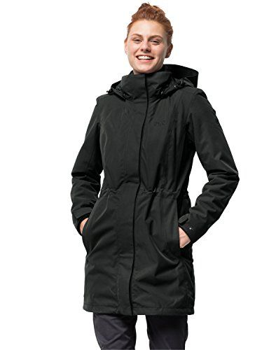 Jack Wolfskin Damen 3 In 1 Mantel Ottawa Coat Jacke Black Hw 17 M Jacken Jack Wolfskin Mantel Wasserdicht