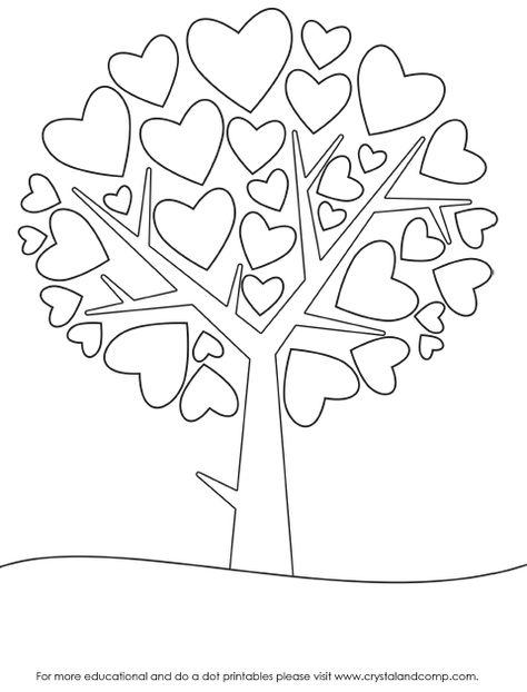 heart color sheet