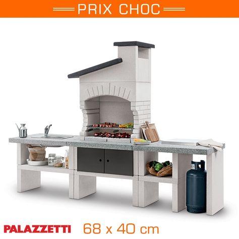 Une cuisine du0027extérieur en pierre Román Pinterest Barbecues - beton cellulaire exterieur barbecue