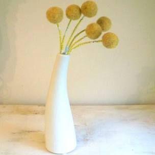 How To Grow Craspedia Billy Buttons Felt Flower Bouquet Flower Arrangements Felt Flowers