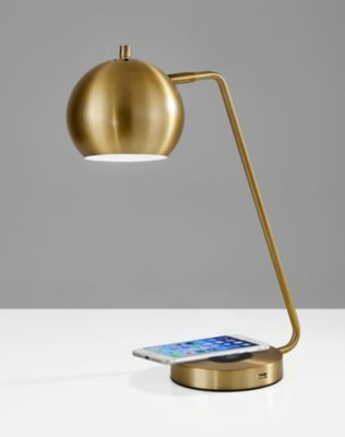 Adesso Emerson Wireless Charging Led Desk Lamp Reviews All Lighting Home Decor Macy S In 2020 Desk Lamp Minimalist Desk Lamp Lamp Decor