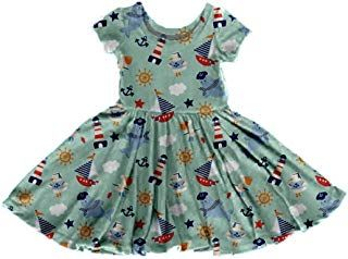 SSZZoo Toddler Baby Girls Skirt Flying Sleeve Floral Print Dress+Headband Loose Short Sets