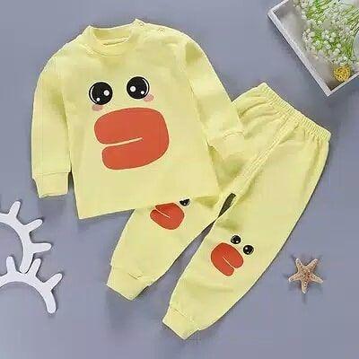Bottoms MYGBCPJS Little Boys Girls Cotton Pajamas Set 2Pcs Thermal Underwear Soft Sleepwear Jammies Long Sleeve Tops