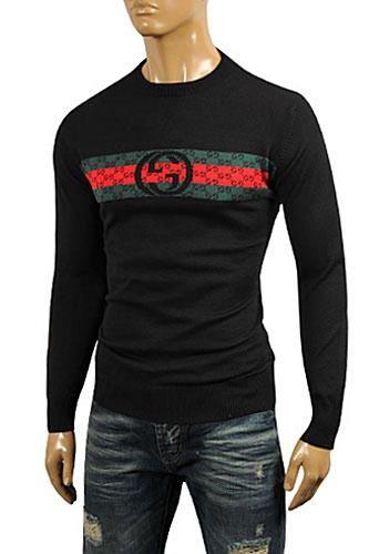 5a20d677b Mens Designer Clothes   GUCCI Men's Crew Neck Knit Cotton Sweater #80