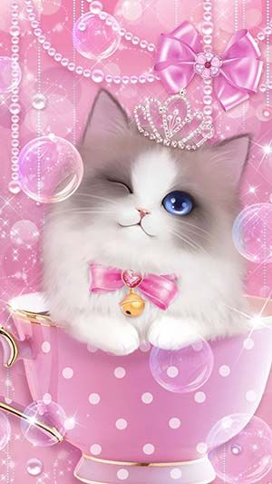 Pink Cute Kitty Wallpapers