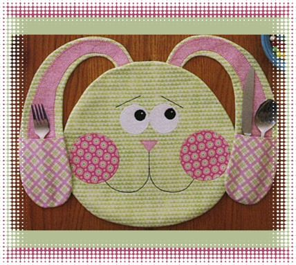 All Ears Placemats Sewing Pattern By Susie C Shore Designs Placemats Patterns Placemats Easter Placemats