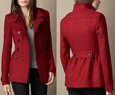 Cromoncent Girls Winter Fleece Thick Lapel Toggle Woolen Pea Coat Jacket