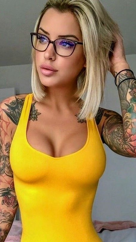 Blonde Milf Small Tits Glasses