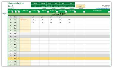 Vorlage Tatigkeitsbericht Tatigkeitsnachweis Excel Vorlage Lebenslauf Vorlagen Word Excel Tipps