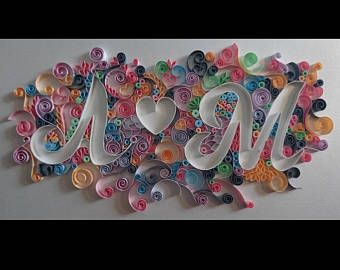 Anniversary Initial Quilling Art