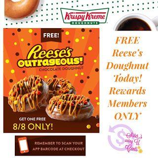 Sisterssavingucents Krispy Kreme Rewards Members Free Reese S