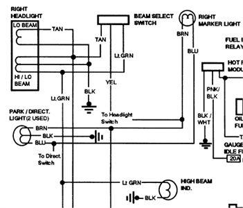 free headlight wiring diagram for 1991 gmc sierra k1500 | gmc sierra, gmc,  diagram  pinterest