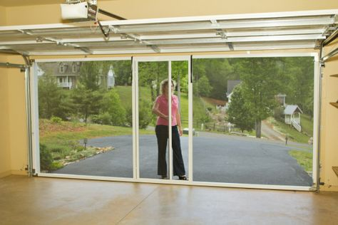 Screen Door For Garage With Retractable Page Diy