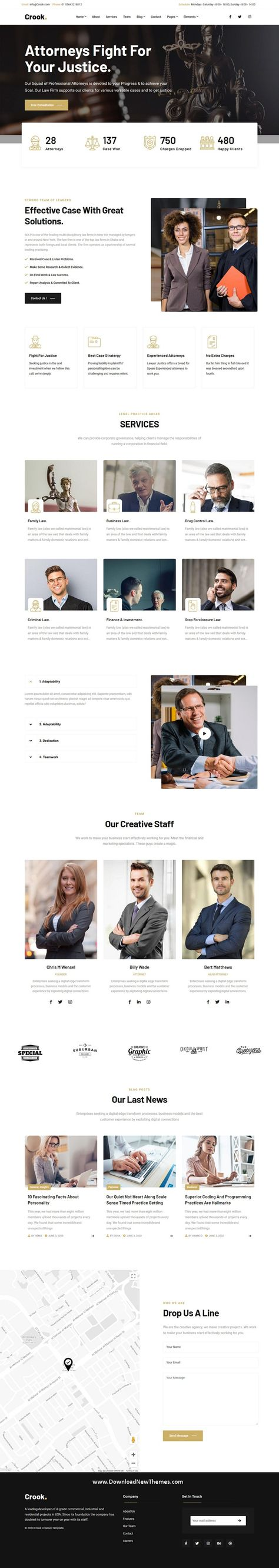 Lawyers - One and Multi-Page Multipurpose Template