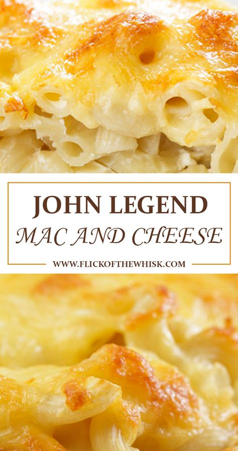 What is John Legend Mac and Cheese? John Legend is a well-known American artist who can sing, write songs and is an actor too. Mac and cheese recipe. Southern Mac And Cheese, Creamy Macaroni And Cheese, Macaroni Cheese Recipes, Stovetop Mac And Cheese, Mac And Cheese Homemade, Pasta Cheese, Macaroni Pasta, 3 Cheese Mac And Cheese Recipe, Cheddar Mac And Cheese