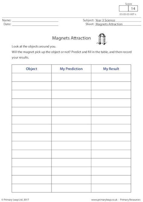 Primaryleap Co Uk Magnets Attraction Worksheet Free Worksheets For Kids Worksheets Free Social Studies Worksheets