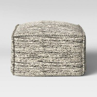 Oversize Marled Outdoor Pouf Black White Project 62 In 2020