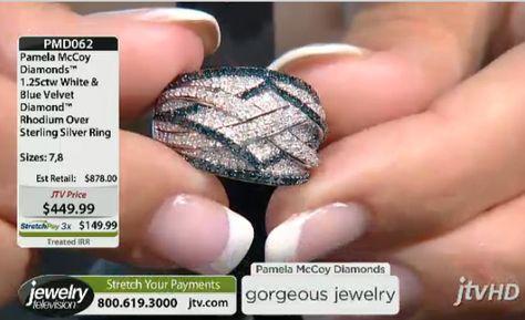 Pamela McCoy Blue Velvet Diamonds Ring!