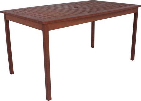 Gartentisch Madison Eukalyptusholz 150x90 Cm Braun