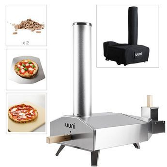 Ooni 3 Wood Fired Pizza Oven With Oak Pellets Cover And Stone Baking Board Outdoor Kitchen Wood Fired Pizza Wood Fired Cooking
