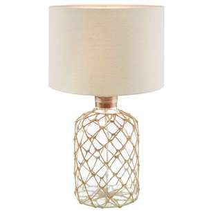 Bouclair Coastal Charm Rope Table Lamp Upcycle A Glass Table