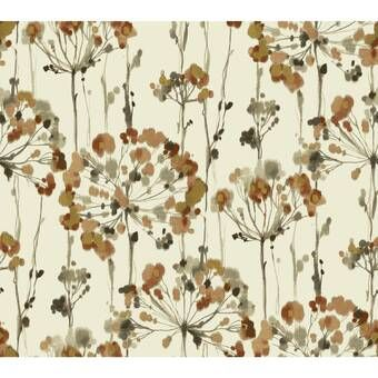Birds Butterflies 15 L X 27 W Wallpaper Roll Floral Wallpaper Candice Olson Wallpaper Wallpaper Roll