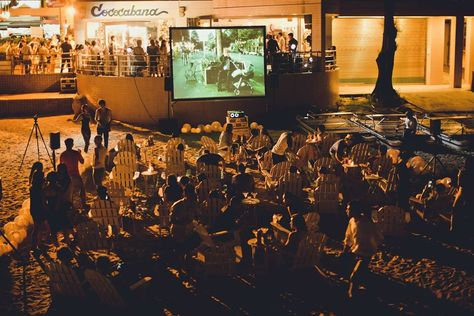 Pop-up cinema at the Shek-O Beach under the stars* Paris, Je t'aime & New York, I Love You