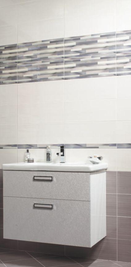Серая плитка для ванной в стиле минимализм Санузел Pinterest
