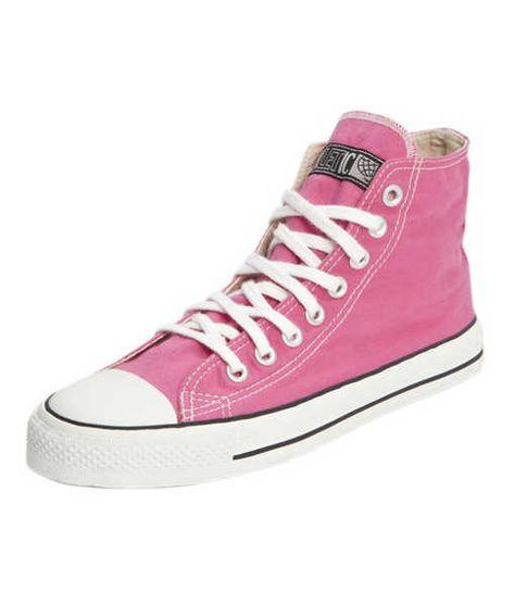 Ethletic Fair Trainer Hi Cut classic pinki pink white
