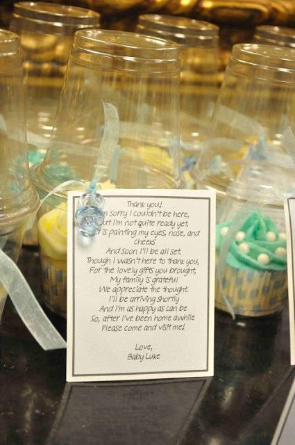Thank you gifts from the baby (poem)