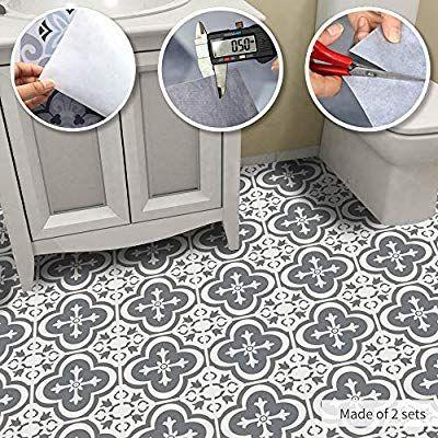 Amazon Com Alwayspon Non Slip Vinyl Floor Sticker Waterproof Pvc Backsplash Tile Decal Self Adhesive Peel And Stick Vinyl Flooring Flooring Splashback Tiles