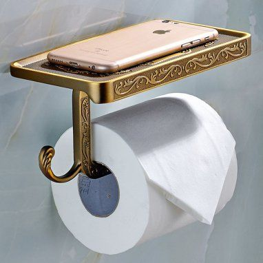 How To Give Your Bathroom A Luxe Makeover On A Budget Bronze Toilet Paper Holder Paper Holder Toilet Paper Roll Holder