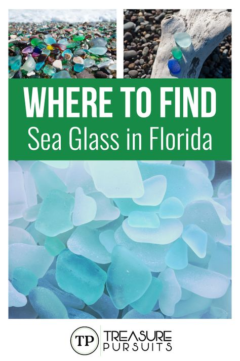 If you are going to Florida and want to scour the beaches for some hidden gems you may consider looking for sea glass. Here's a list of the best places to find sea glass in Florida. Destin Florida, Florida Vacation, Florida Travel, Vacation Places, Florida Beaches, Vacation Spots, Travel Usa, Places To Travel, Places To Go