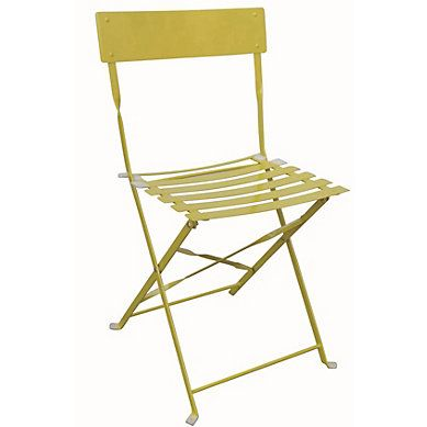 Chaise Pliante Tropical Jaune Hello Spring Chaise De
