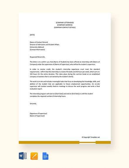 Sample Acceptance Letter For Internship Luxury 11 Sample