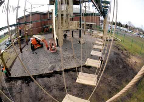 Stanley Park S High Ropes Adventure Course Takes Shape Stanley Park Adventure Park Adventure