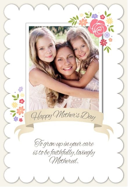 Worth 1000 Words Printable Mother S Day Card Customize Add Text And Photos Print For Free Mothers Day Cards Mothersday Cards Baby Shower Invitations Diy