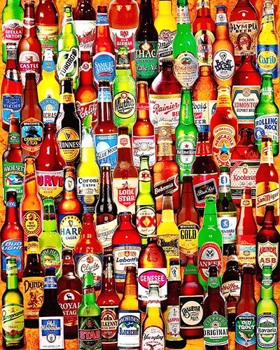 99 Bottles of Beer on the Wall is a 1000 piece collage jigsaw puzzle from White Mountain. This puzzle features a collage of various beer of them to be exact.