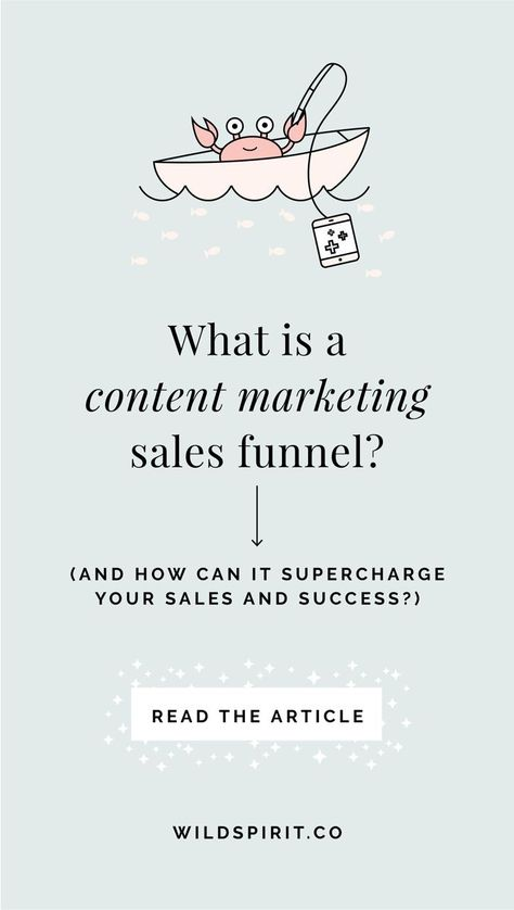 What is a content marketing sales funnel? - Wild Spirit Copywriting