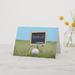 Golf Ball With Handicap Word On Chalk Board Card Golf Birthday Gifts Golf Birthday Cards Golf Birthday